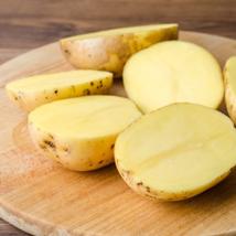 Печеная картошка с маринованным лососем